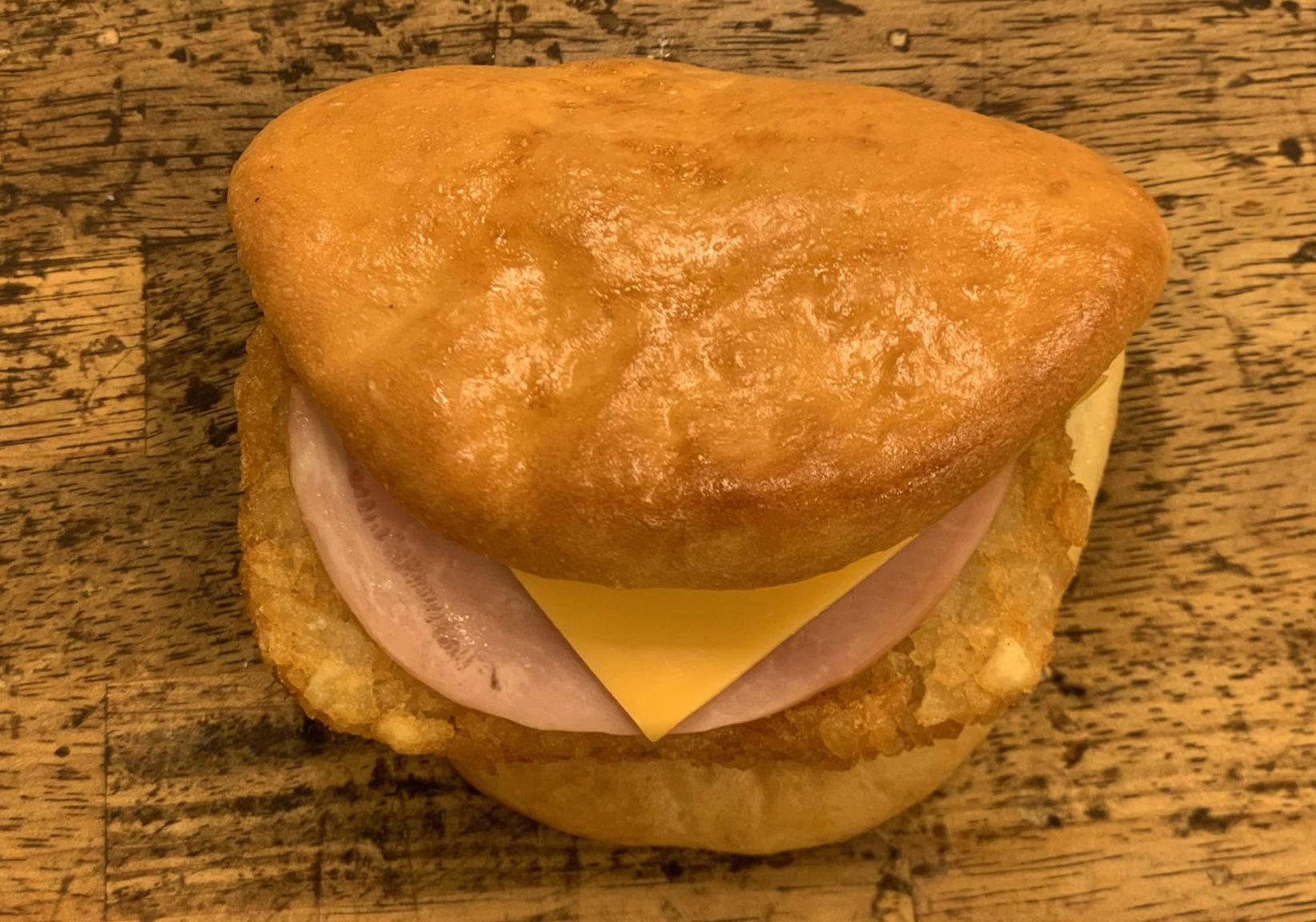 ハムチーズハッシュドポテトサンド